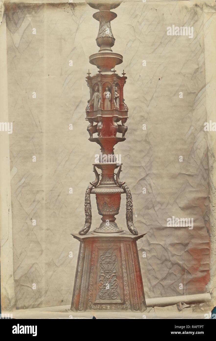 Candelabro en Santa Maria en Organo, Verona, Italia, alrededor de 1865 - 1885, albúmina imprimir plata. Reinventado Imagen De Stock
