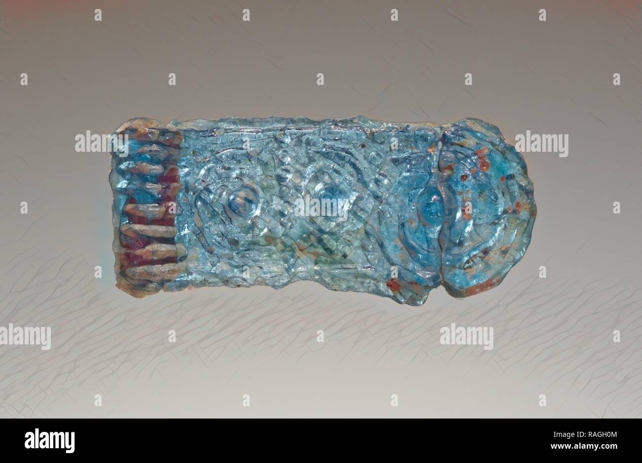 Colgante de fundición, en Grecia, alrededor del siglo XIV B.C, vidrio, de 2,5 cm (1 pulg.). Reimagined by Gibon. Arte clásico con un moderno reinventado Foto de stock