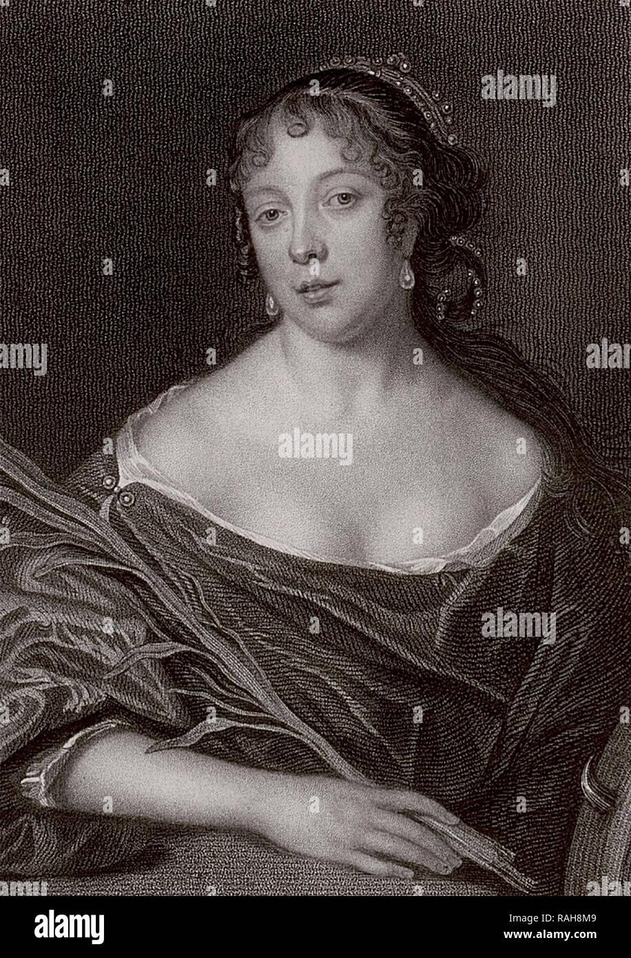 Elizabeth Pepys - esposa de Samuel Pepys - 1825 imprimir de un retrato del siglo XVII. Imagen De Stock