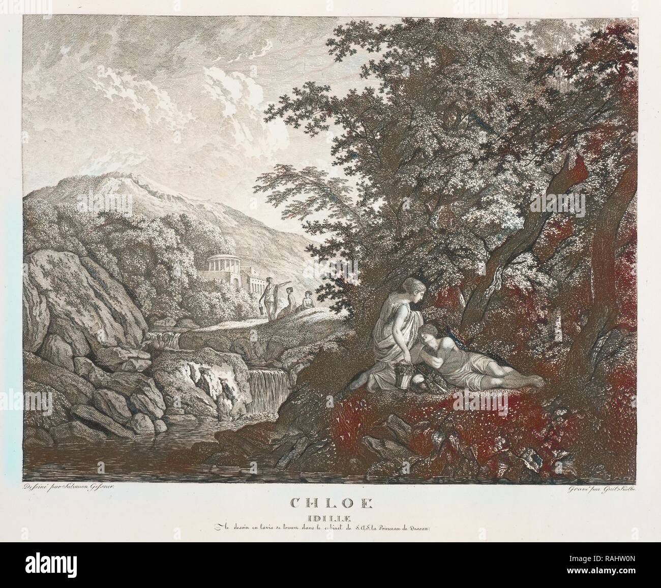 Chloe Idille, Colección des tableaux en gouache et des Dessins de Salomon Gessner, Gessner, Salomon, 1730-1788 reinventado Foto de stock
