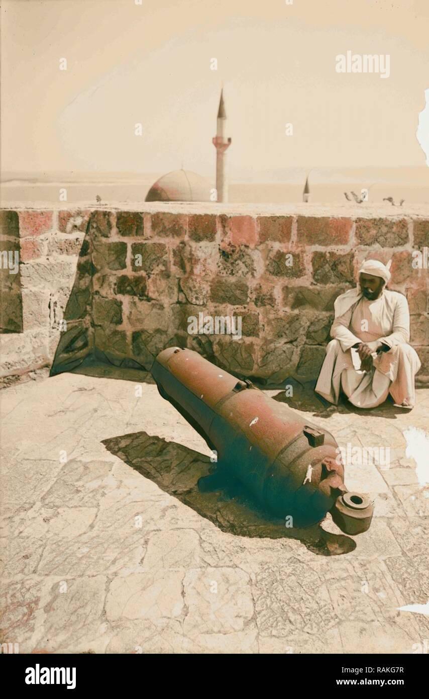 Akka (Acre, Accho). Cañón británico de las guerras napoleónicas. 1920, cañones, fortalezas y fortificaciones, Acre es una ciudad en reinventado Foto de stock