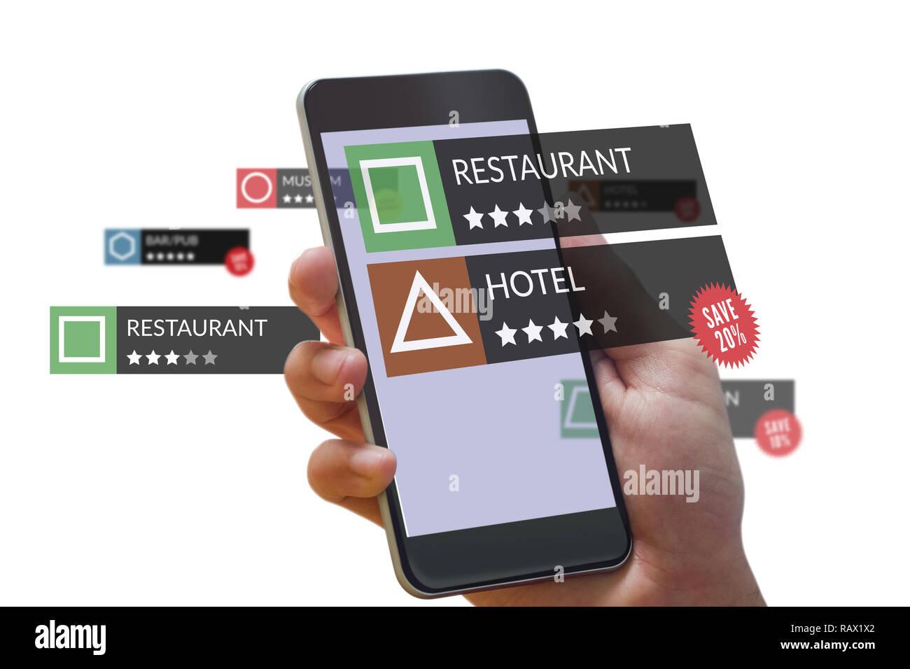 Smartphone con aplicaciones Imagen De Stock