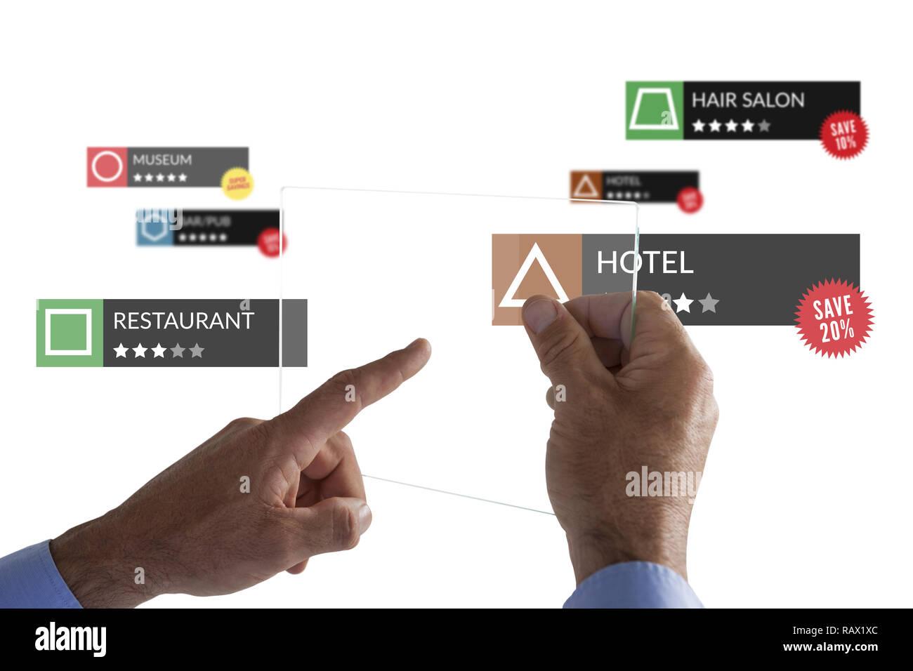 Tablet con aplicaciones Imagen De Stock
