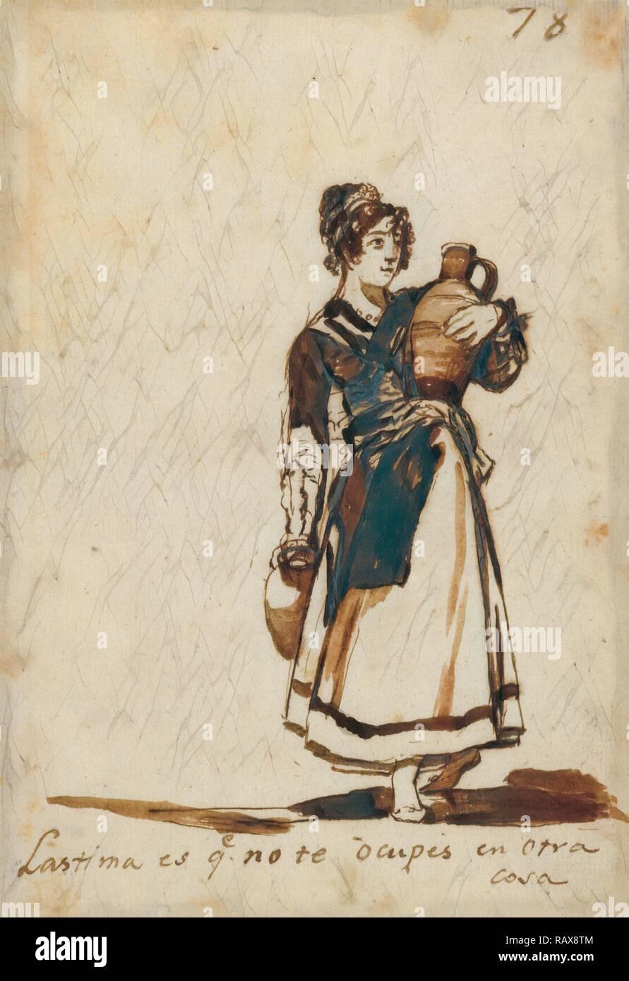 Es una lástima que no tienen otra cosa que hacer!, Francisco José de Goya y Lucientes (Francisco de Goya), español reinventado Foto de stock