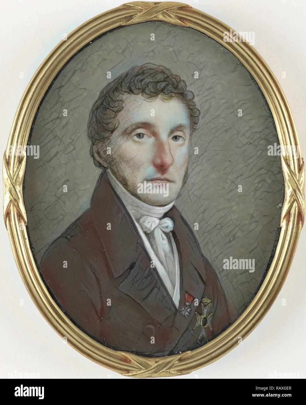 Pieter de Riemer (1769-1831). Profesor de Obstetricia, cirujano consultor del rey Guillermo I, Johannes Hari (I), 1800 reinventado Imagen De Stock