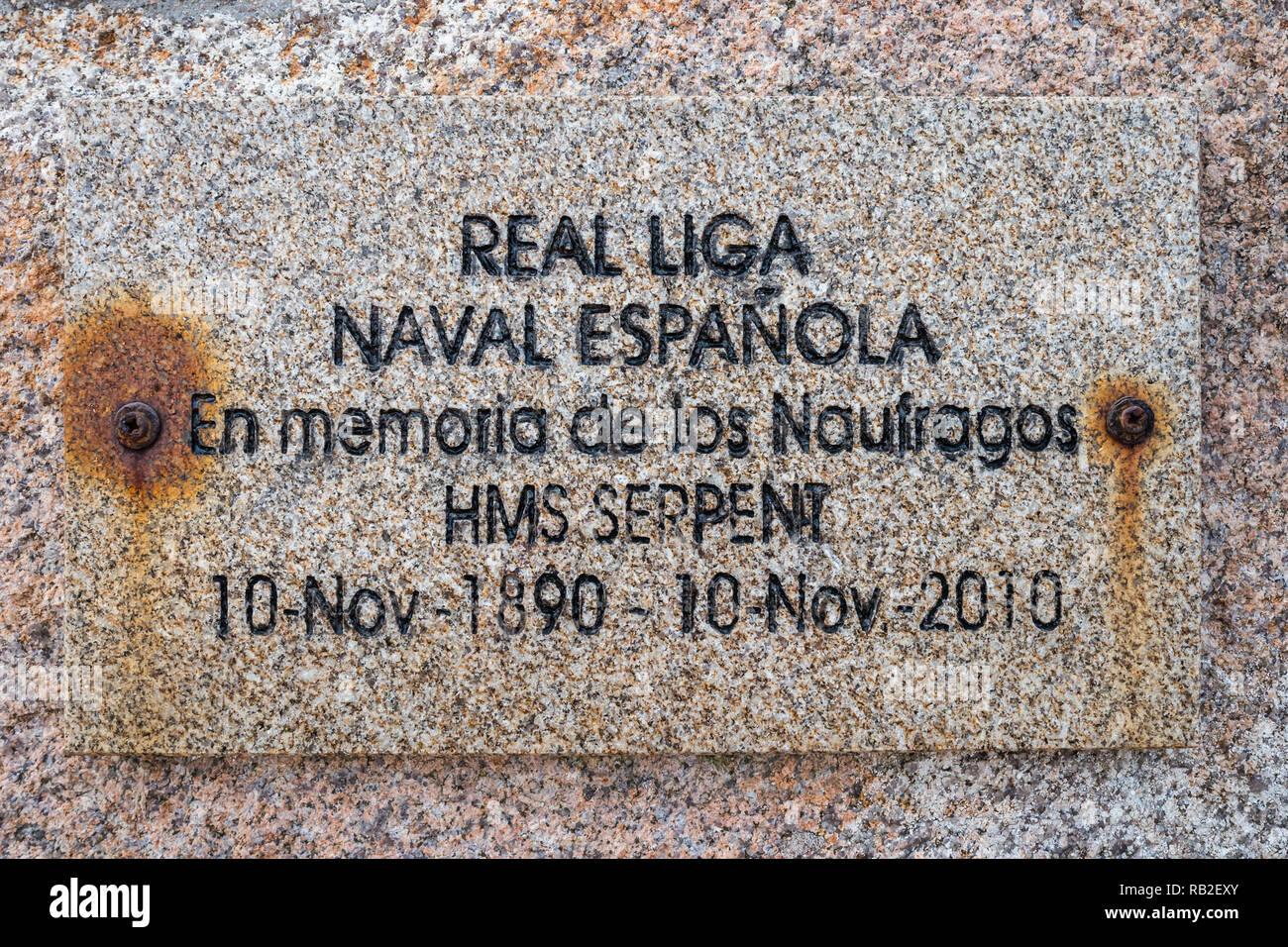 Cementerio Inglés cerca de Camariñas, Galicia, España Imagen De Stock