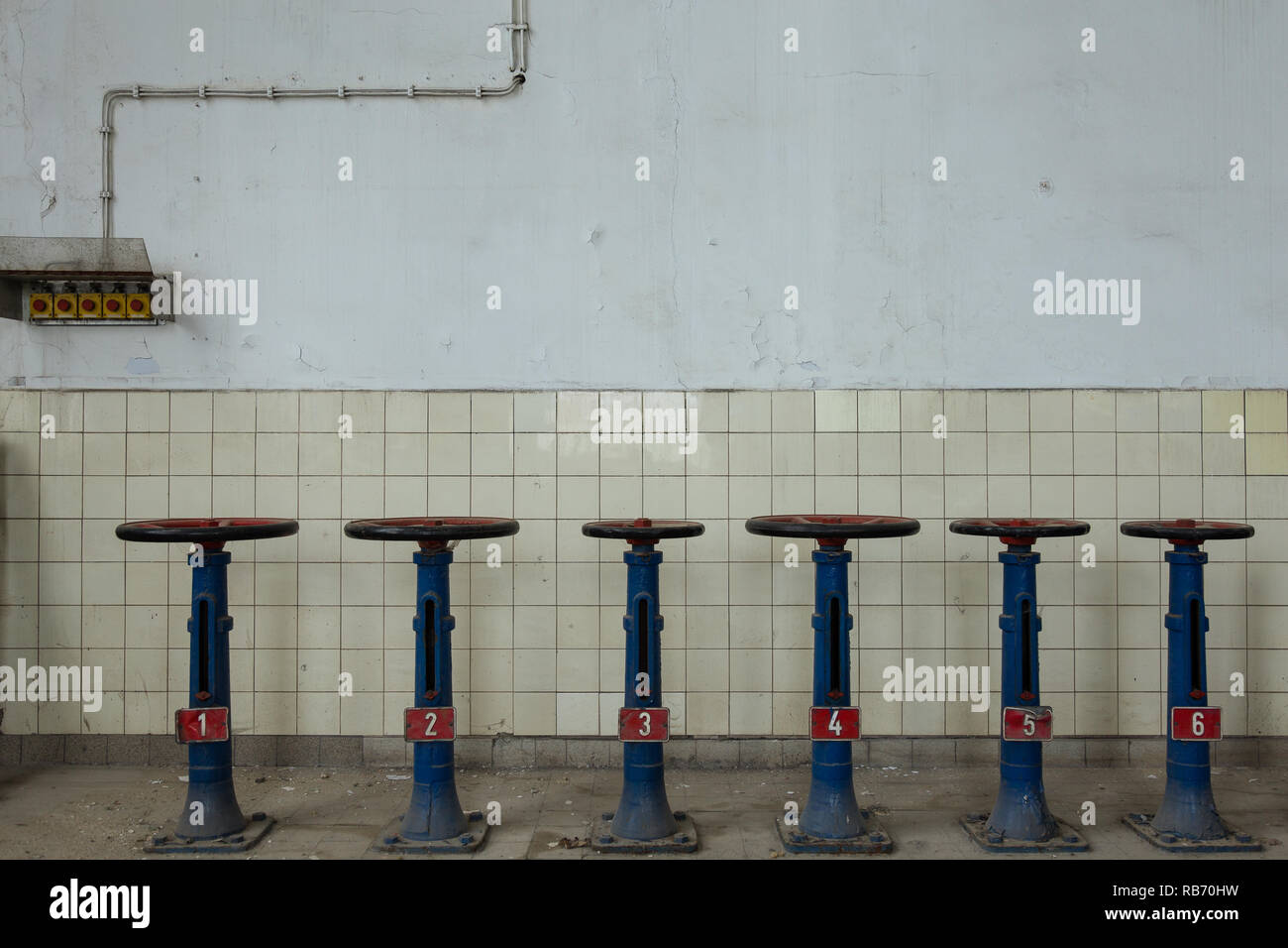 La energía perdida, abandonada powerplant Foto de stock