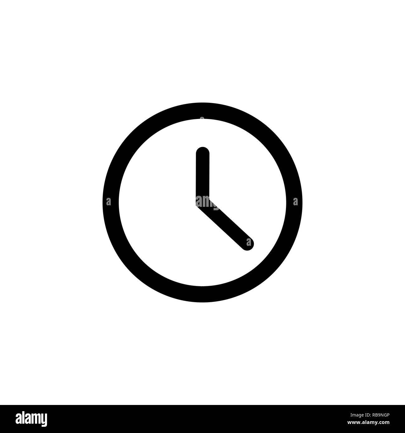 49ff688a3f8c Icono de la línea de reloj en estilo plano. Símbolo del reloj. Imagen De