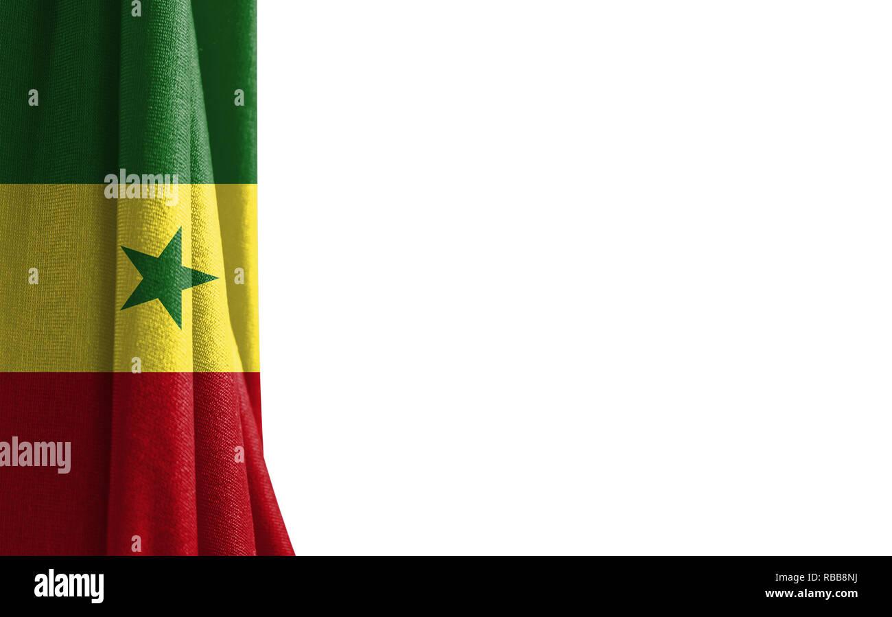 Bandera De Senegal Fondo Blanco Y Un Lugar Para El Texto