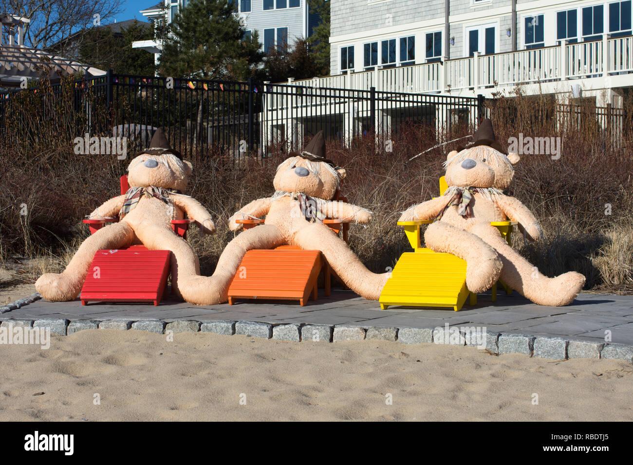 """Bellezas de baño' en invierno en Cape Cod en Provincetown, Massachusetts, EE.UU. Foto de stock"