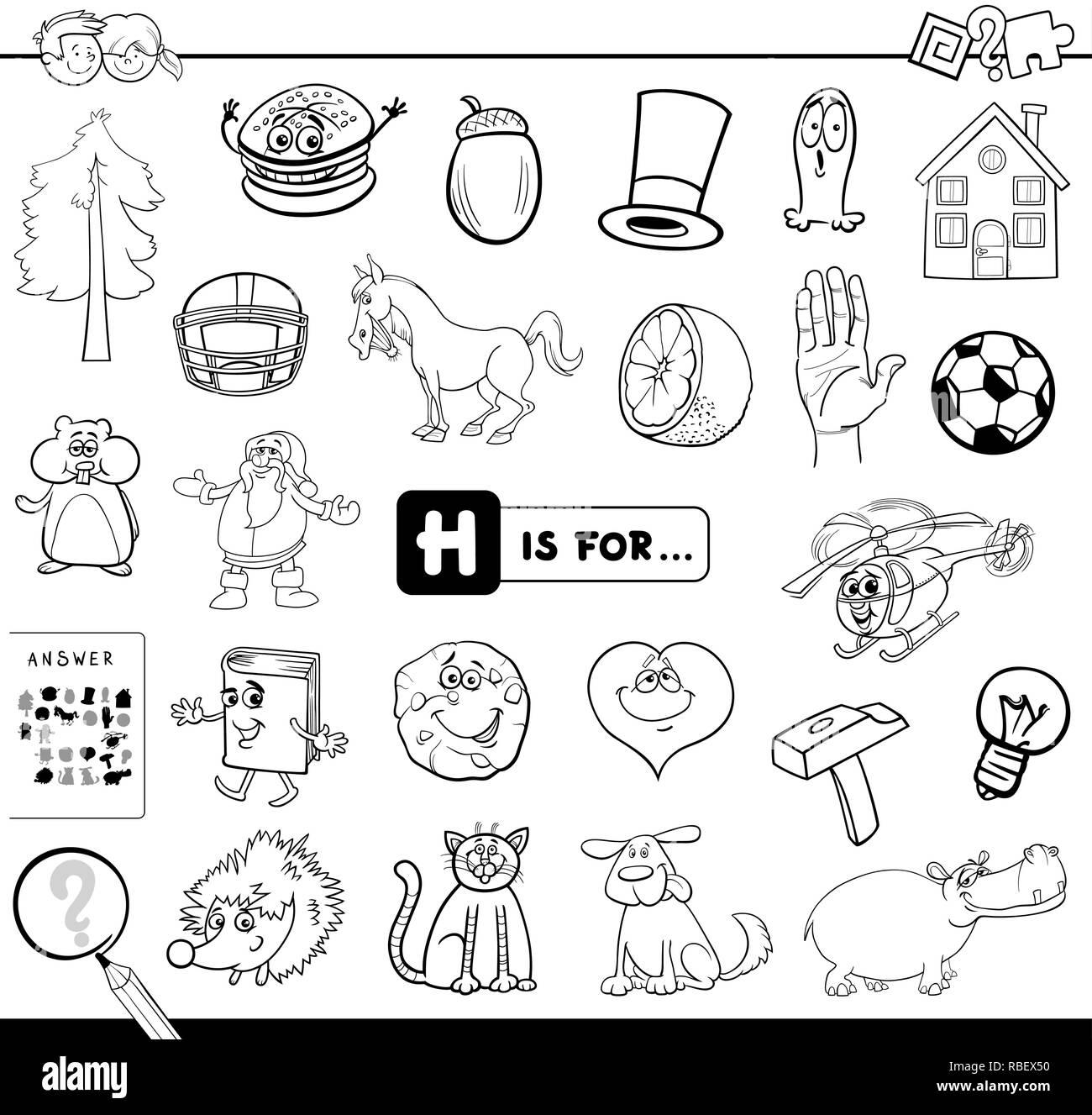 Ilustración Caricatura En Blanco Y Negro De Encontrar La