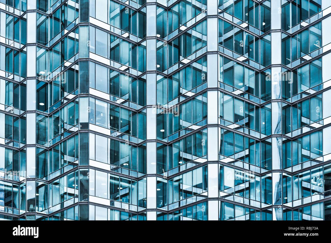 Arquitectura moderna en el número 1 de la Avenida de la Universidad, Toronto Foto de stock