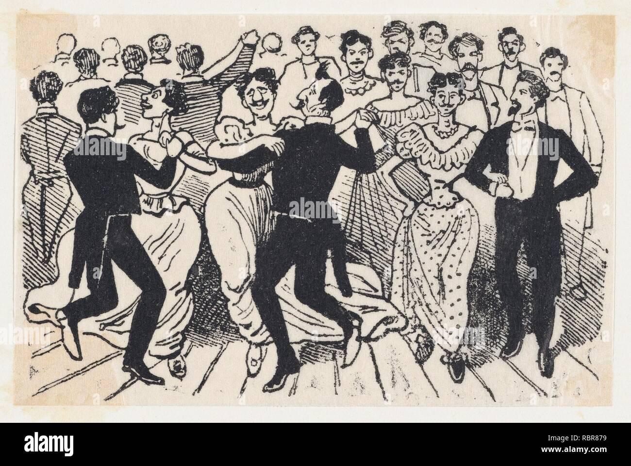 Un Baile Con 735325 Hombres En Trajes Y Vestidos De Un