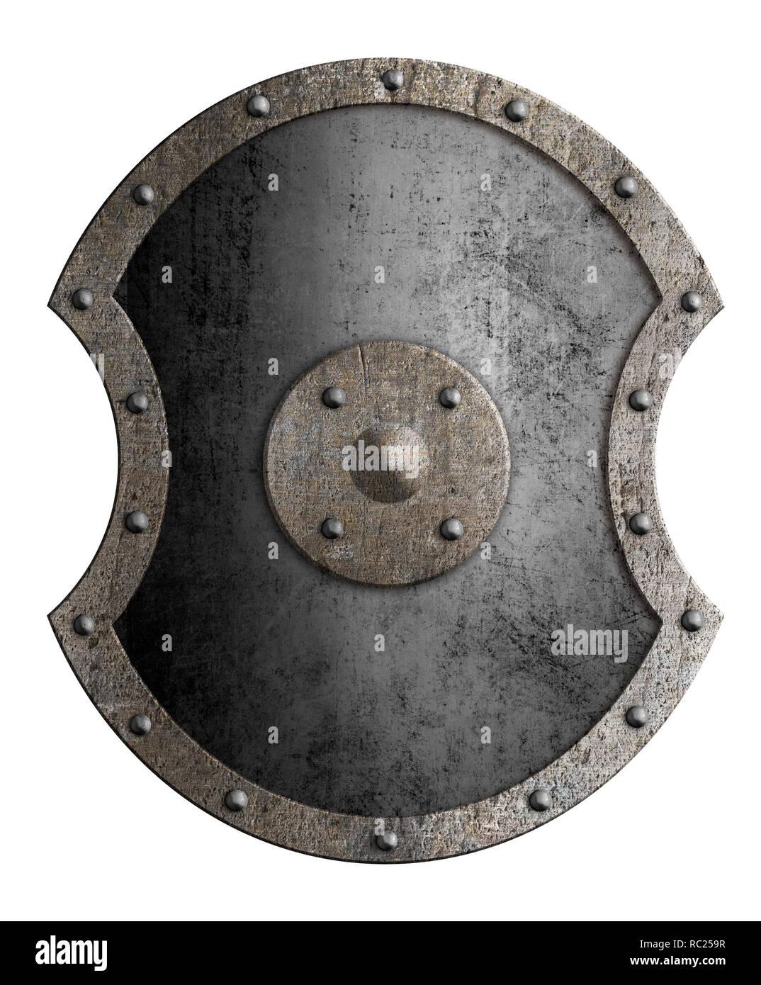 Gran protección metálica aislada ilustración 3d Imagen De Stock