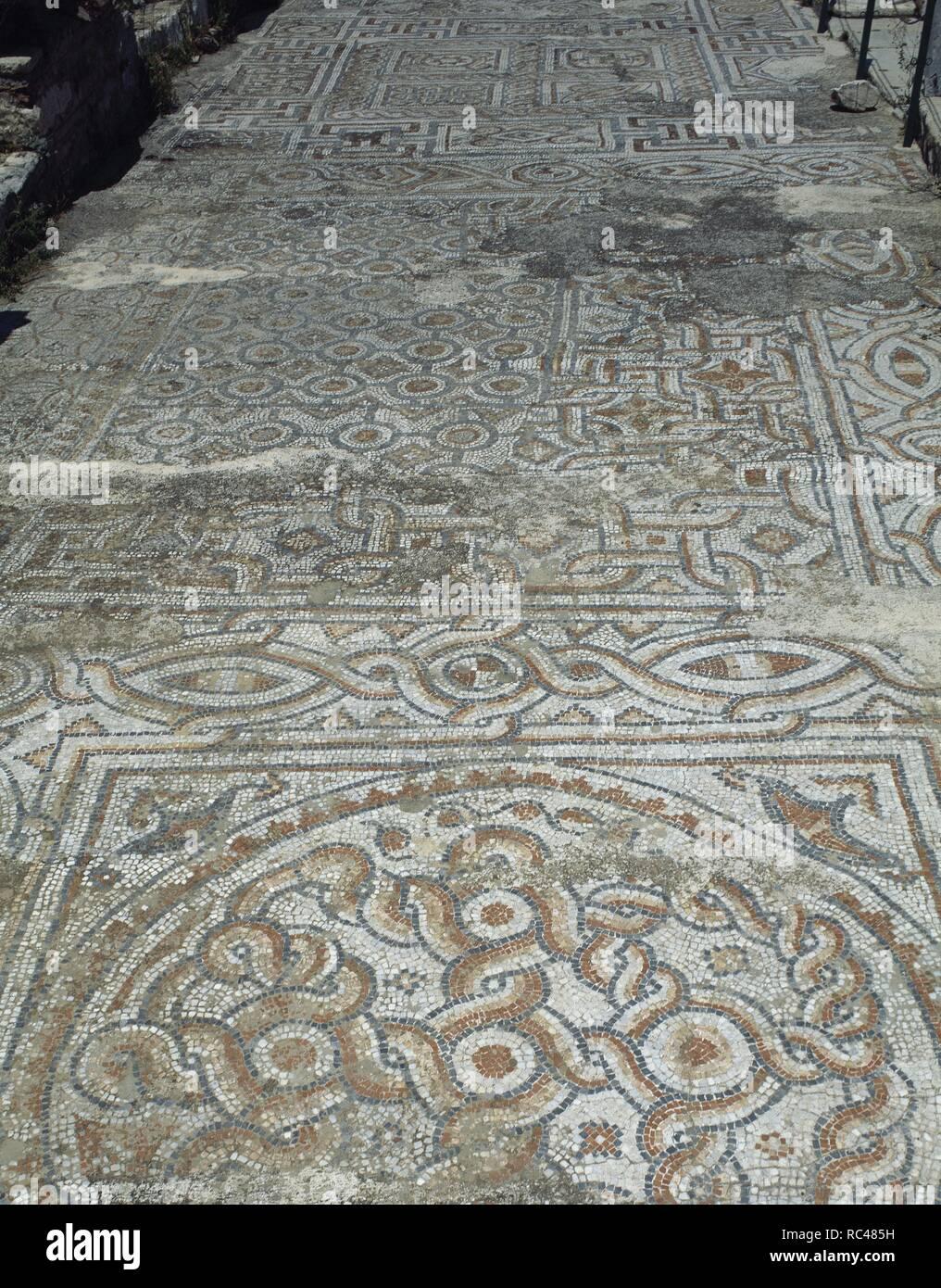 Turquía éfeso Terraza Casas Adornada De Mosaicos En El