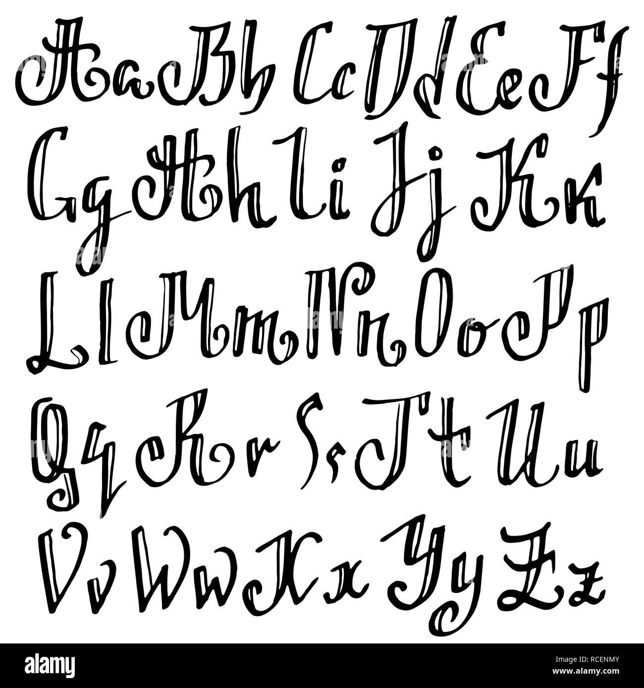 Grunge Viejo Pluma Fuente Gotica Blackletter Script