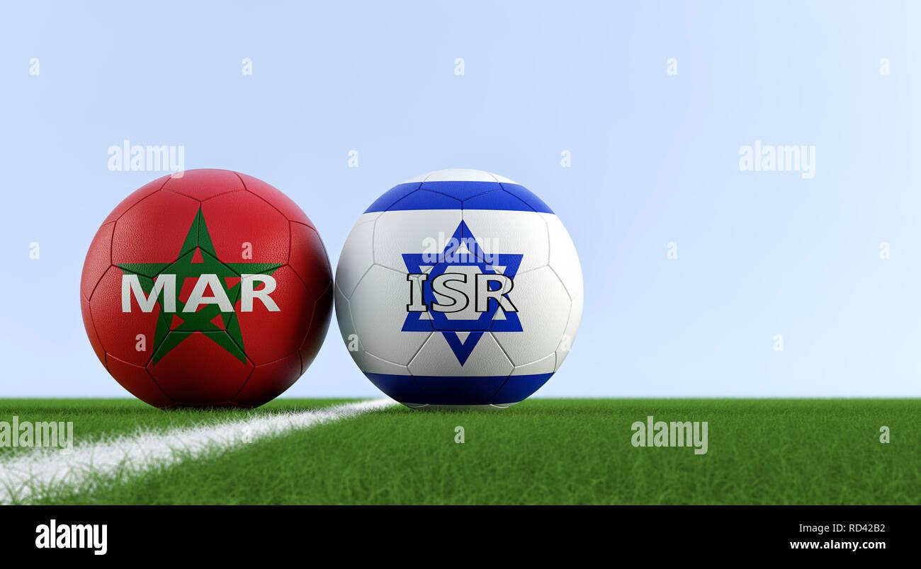 Marruecos soccer match - pelotas de fútbol en Israel y Marruecos colores  nacionales 6a1cc0991cf5b