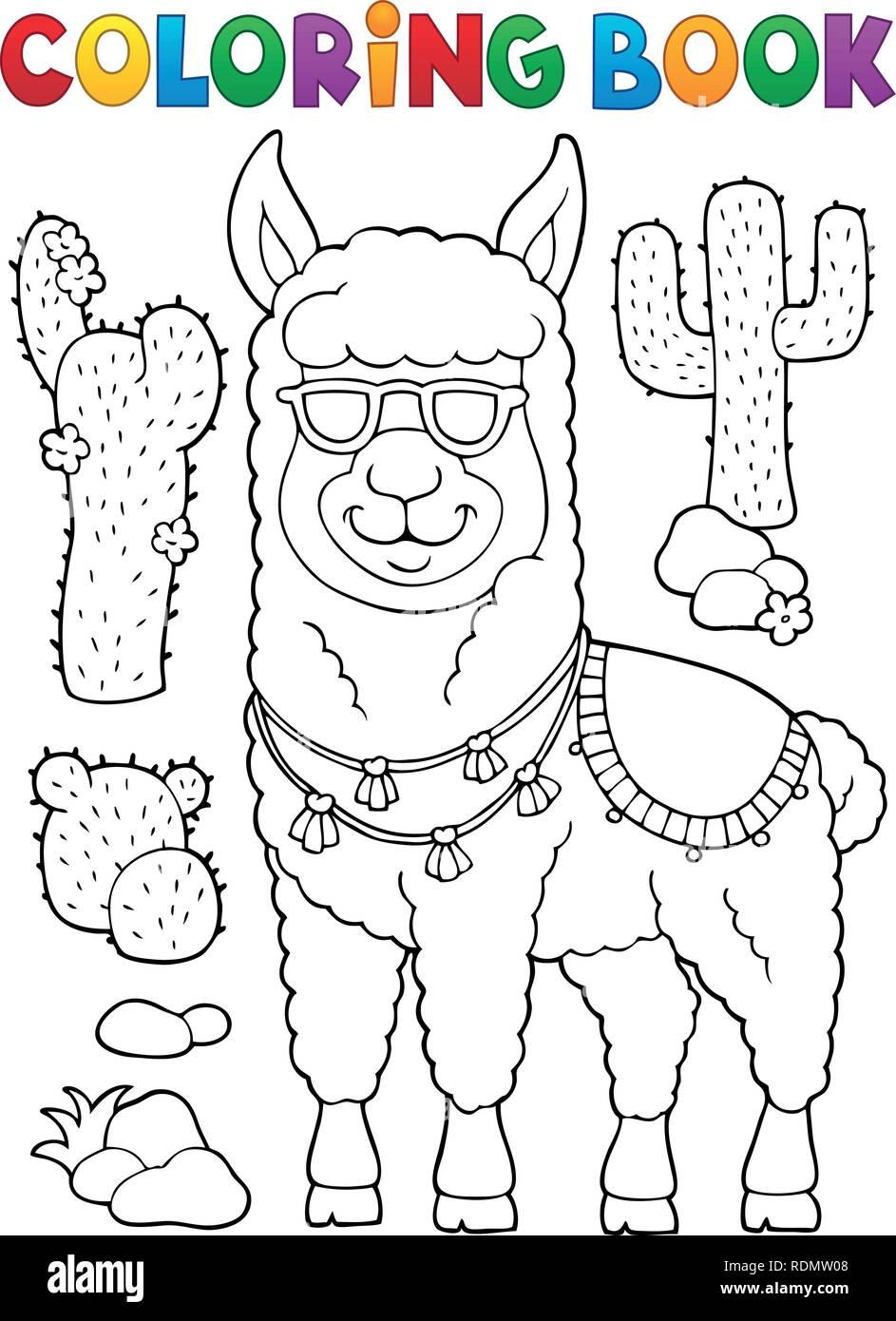 Libro Para Colorear De Llamas Con Gafas De Sol 1 Eps10