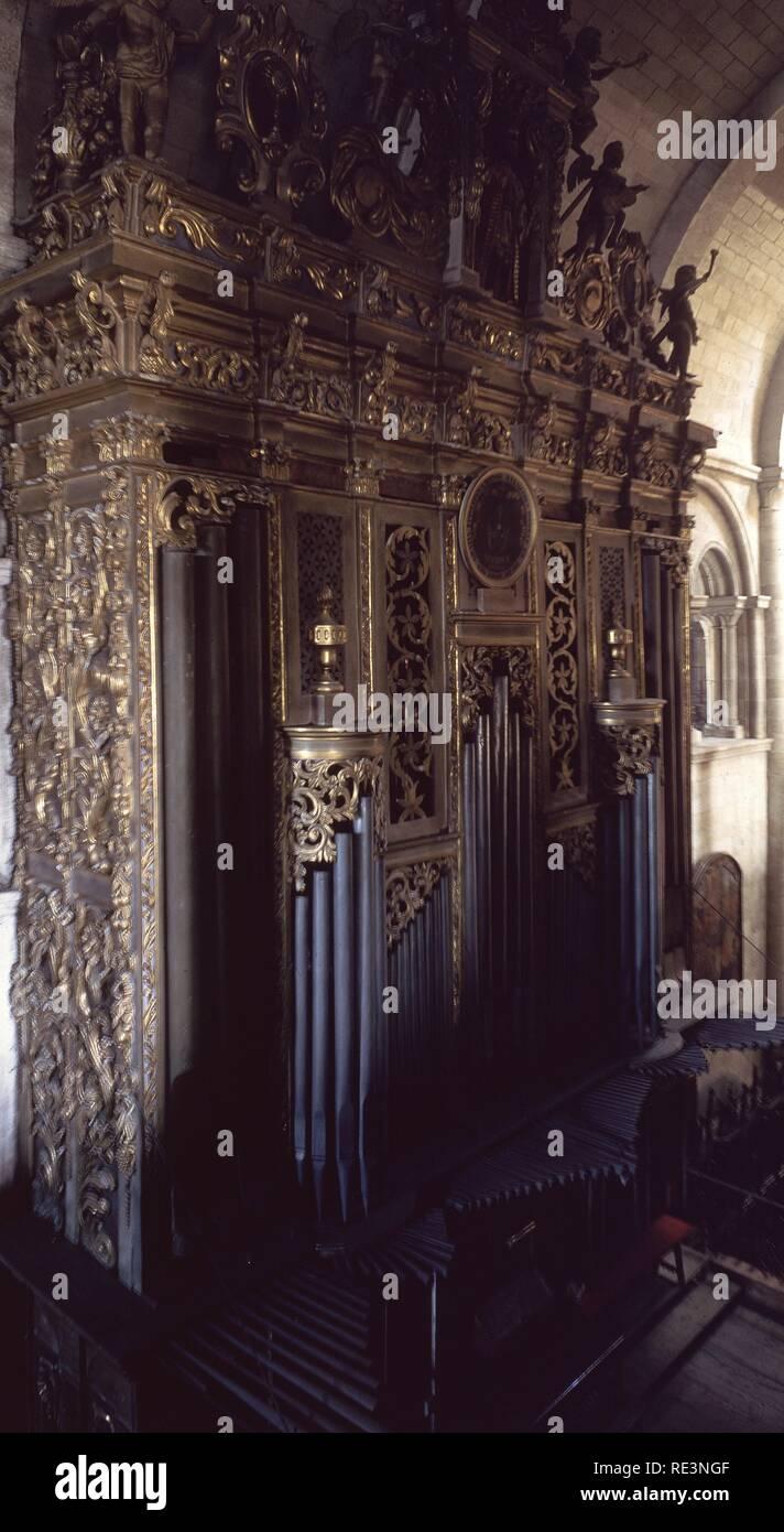 ORGANO. Ubicación: Catedral. LUGO. España. Imagen De Stock