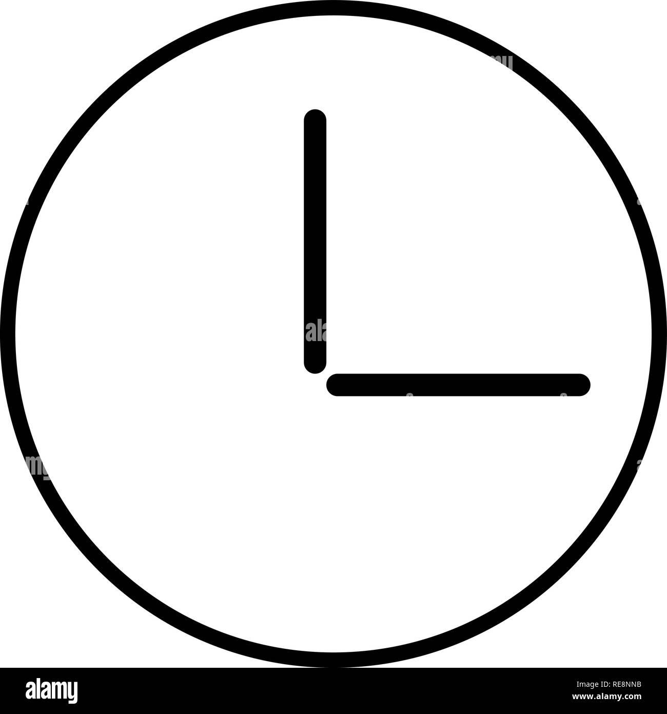 c18dbd835746 Wall Clock Logo Icon Isolated Imágenes De Stock   Wall Clock Logo ...