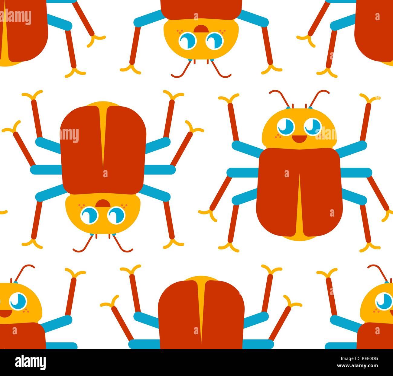 Lindo Bug Patrón Gracioso Escarabajo Antecedentes Del