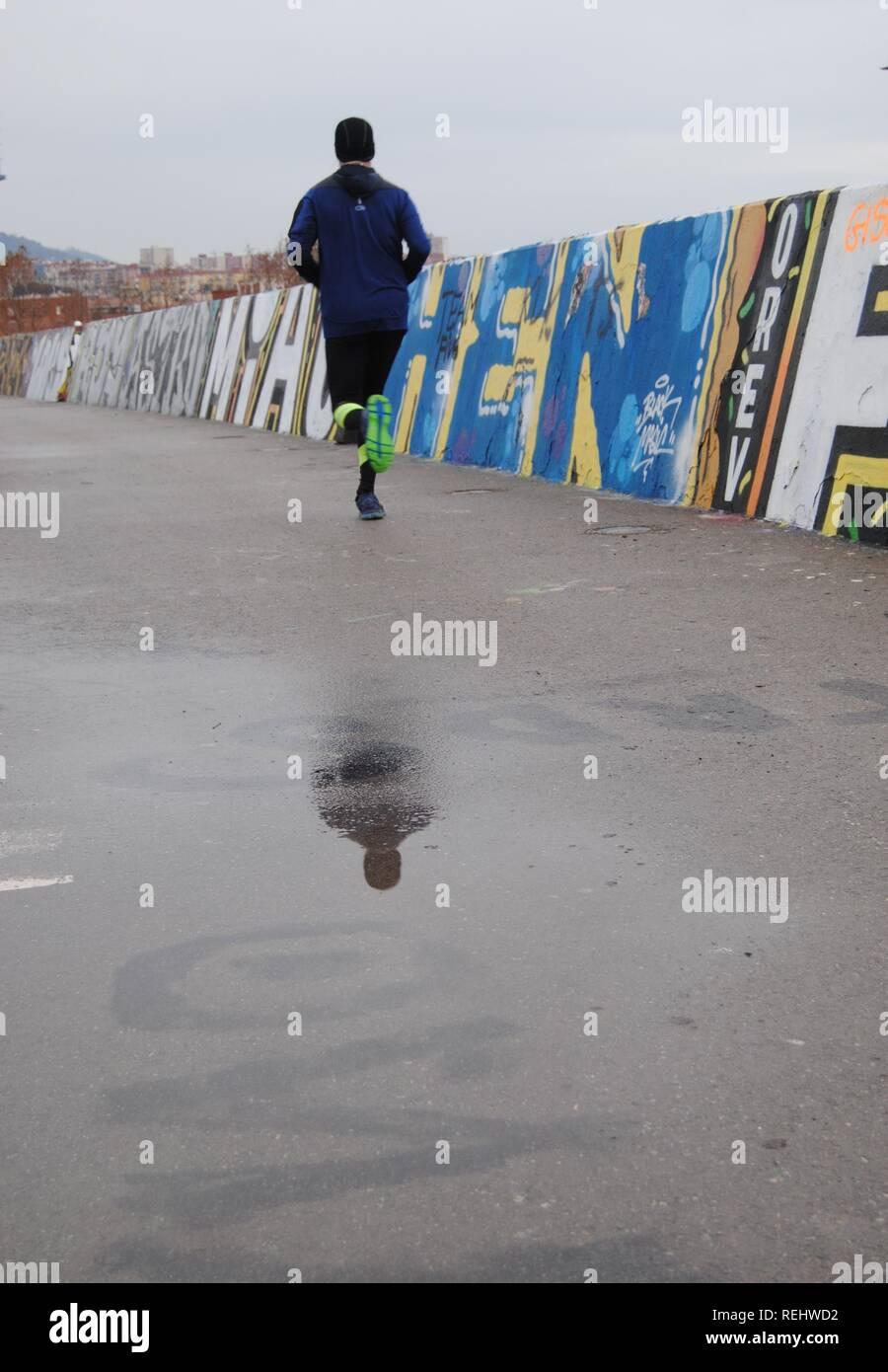 Ejecutando y rainig Imagen De Stock
