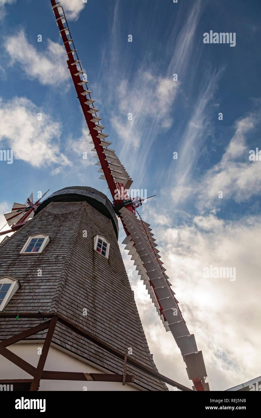 Cuerno de alce, Iowa - El molino de viento daneses, construido en 1848 en Dinamarca y traído a Iowa en 1975. Esta comunidad rural afirma ser el mayor settl danés Foto de stock