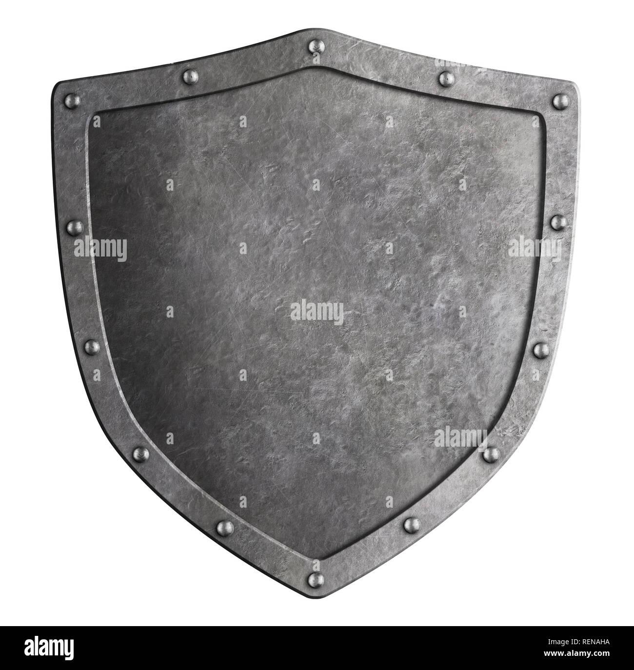Protección metálica clásica aislados ilustración 3d Imagen De Stock