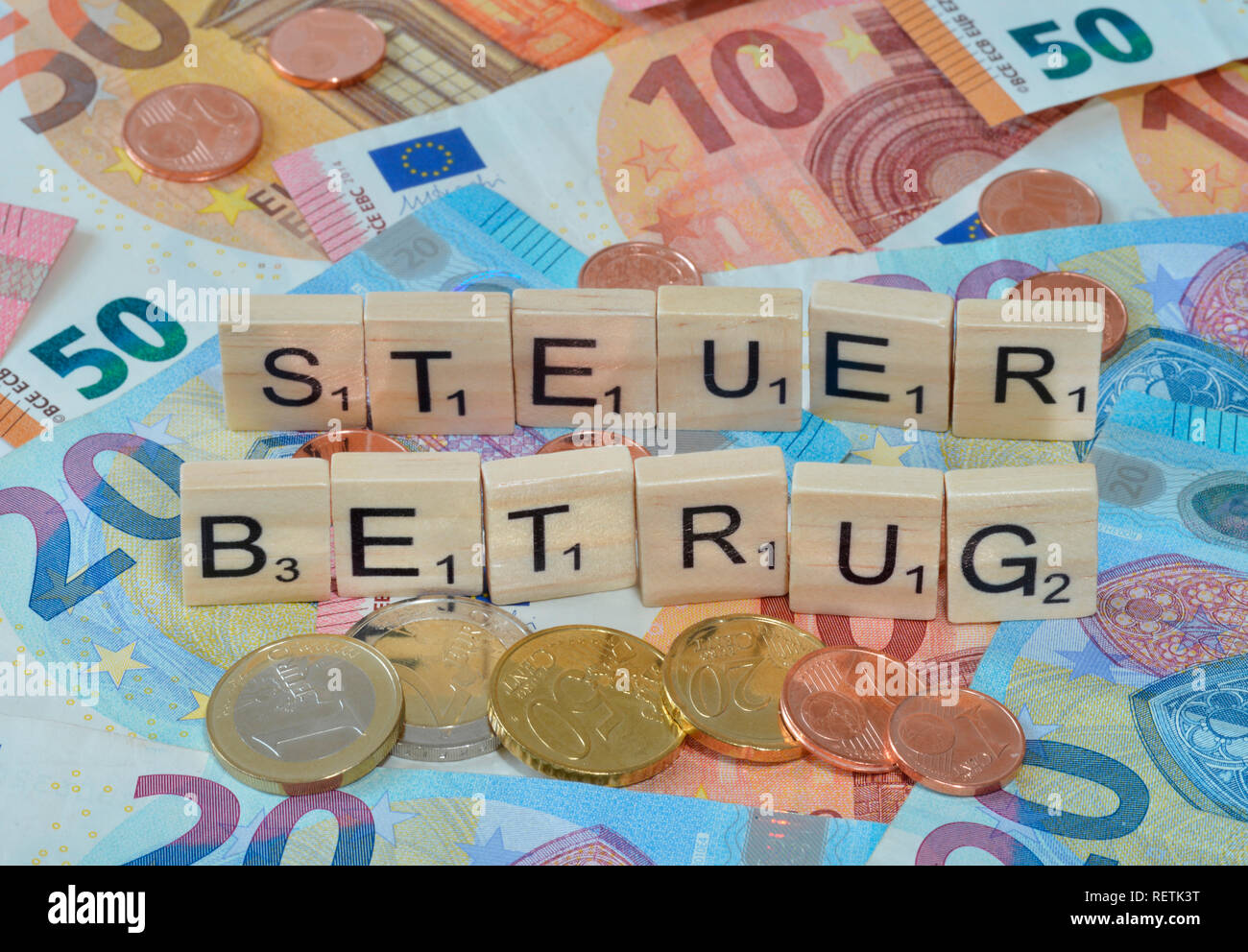 El fraude fiscal Imagen De Stock