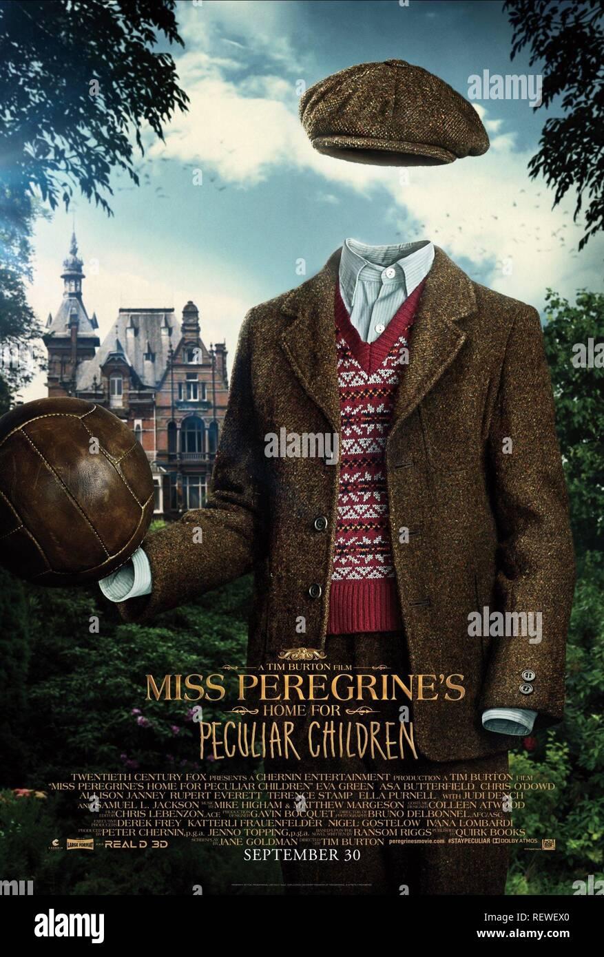 CAMERON Rey cartel de la casa de miss PEREGRINE PARA NIÑOS peculiares (2016) Imagen De Stock