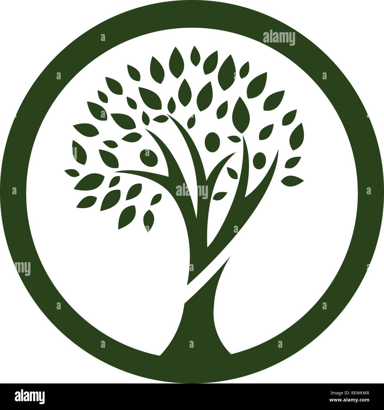 árbol Familiar Plantilla De Logotipo Ilustración Del Vector Imagen