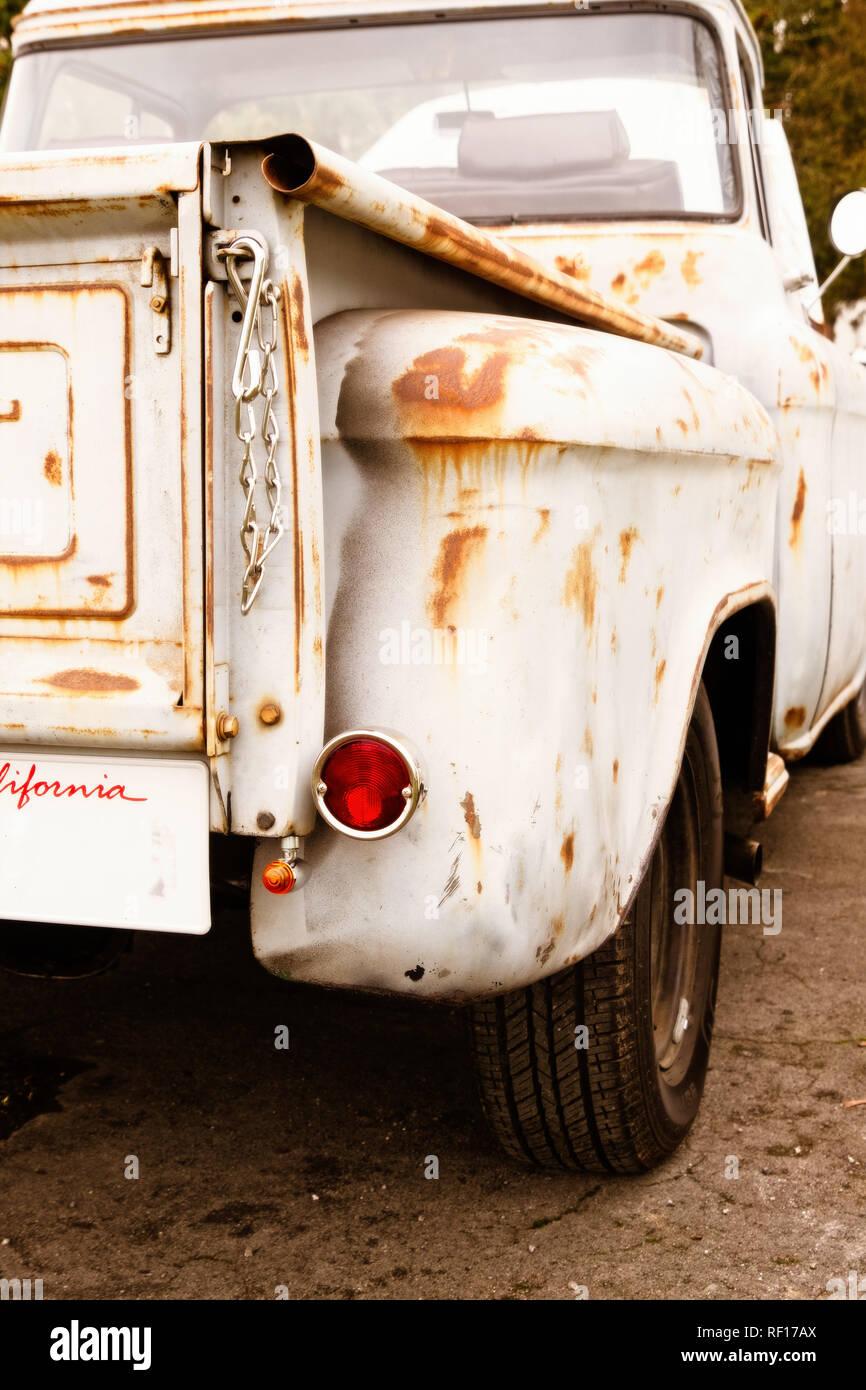 'Americana' tepside camioneta en Bicester Heritage Centre. Enero de 2019 Foto de stock