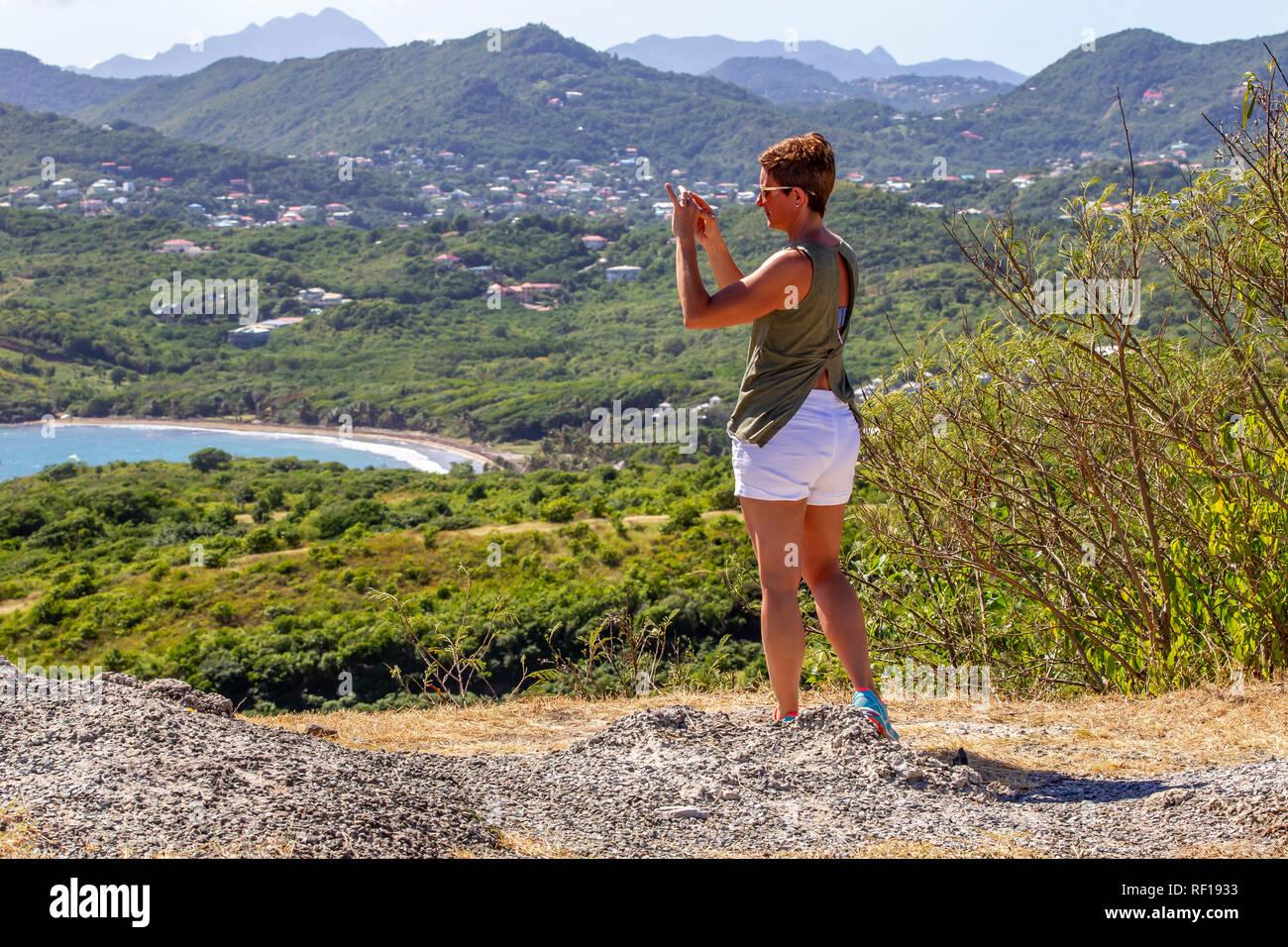 Santa Lucía, una de las Islas de Barlovento en el Caribe. Foto de stock