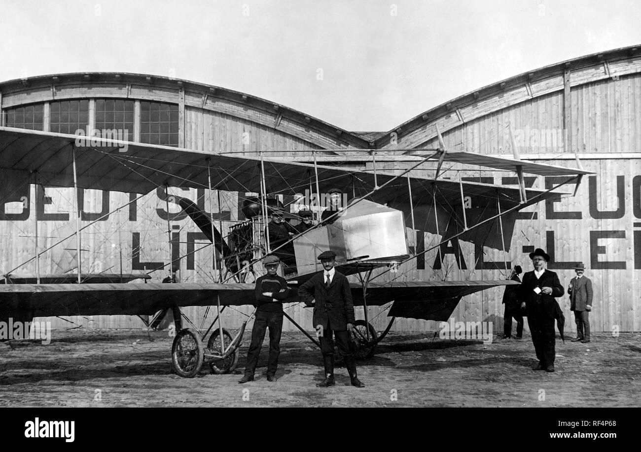 Leipzig, Joseph sablatnig, récord mundial de vuelo, 1911 Foto de stock