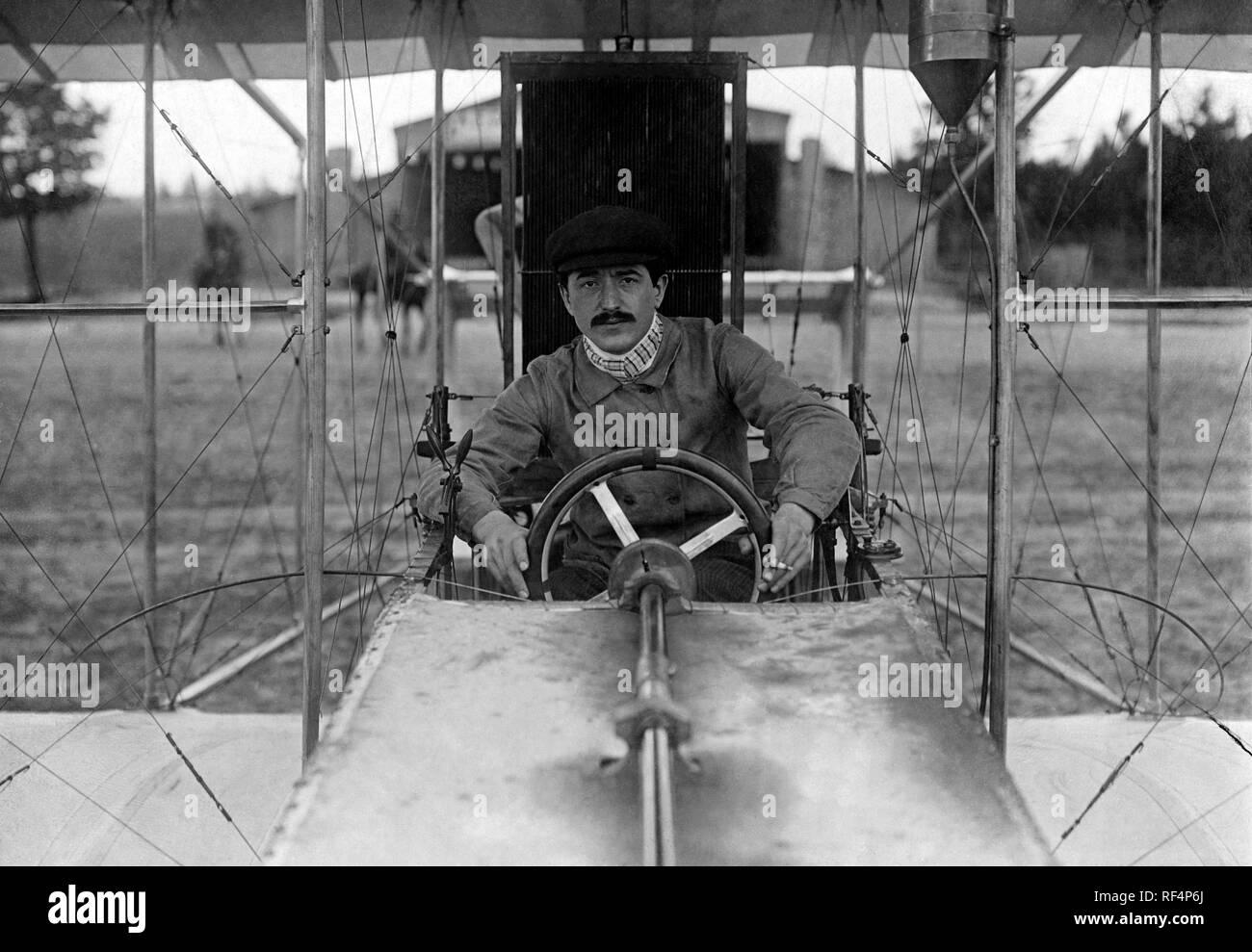 Aviación, Maurice colliex, 1910 Foto de stock