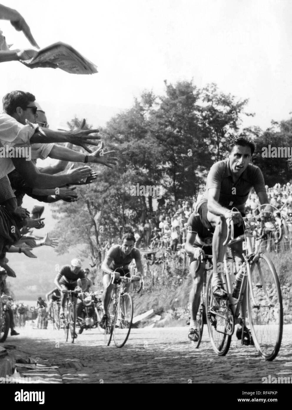 Fausto Coppi, 1953 Foto de stock
