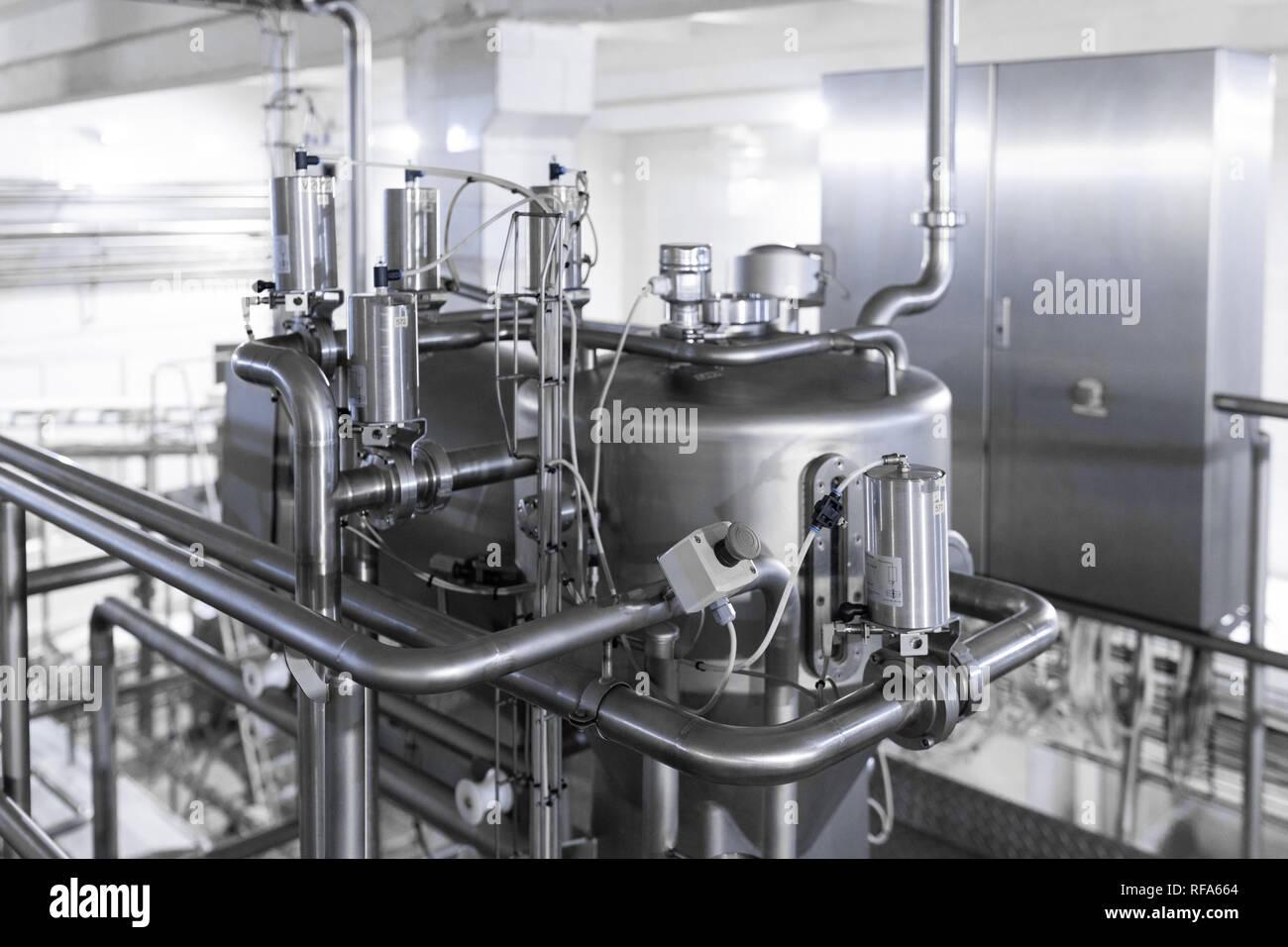 Equipos en la industria moderna fábrica antecedentes Imagen De Stock