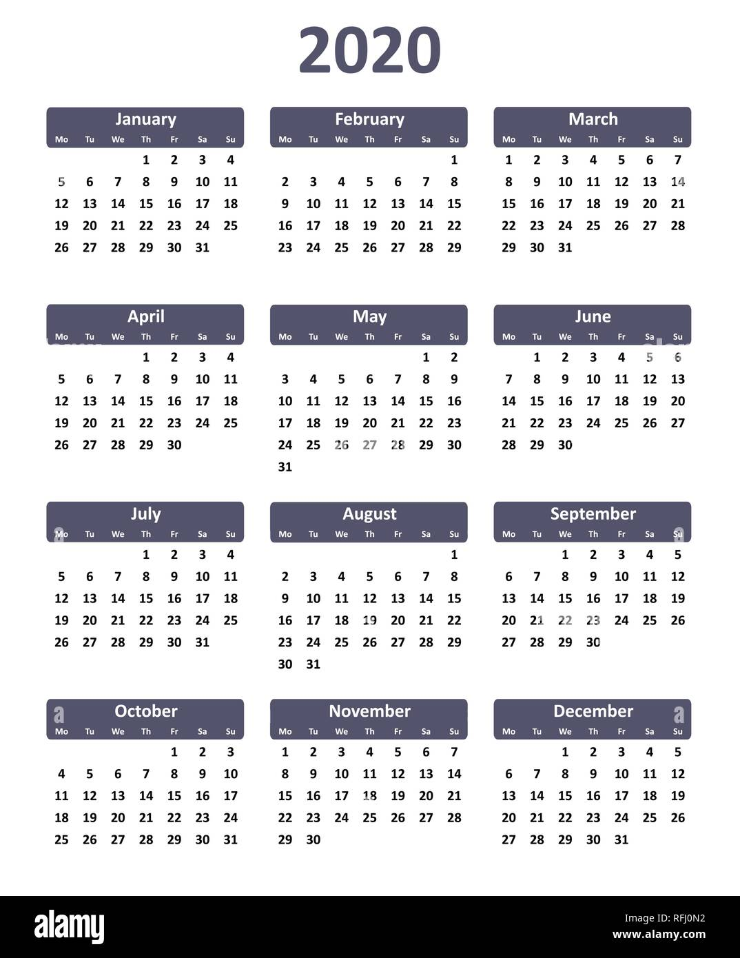 CALENDARIO 2020 WORD EDITABLE - Calendario 2019