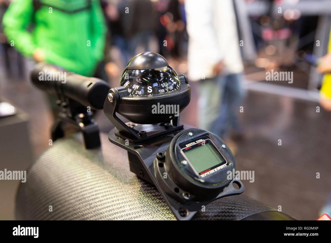 Unterwasser-Scooter auf der 50. Wassersportmesse 'boot', Düsseldorf, 18.01.2019 Foto de stock