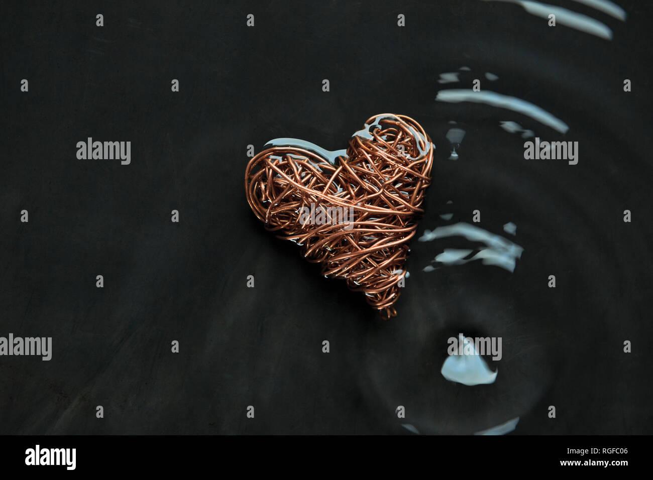 1 alambre anillo alambre corazón 28 cm espesor alambre 0,5 cm