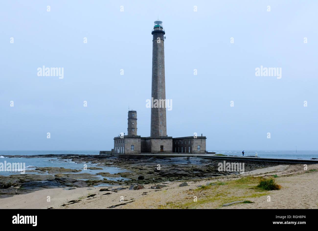 Faro en Normandía - Phare de Gatteville, Barfleur, Basse Normandía, Francia Foto de stock