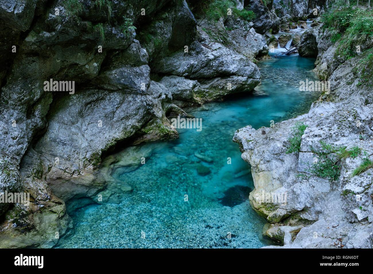 Eslovenia, Tolmin, el Parque Nacional de Triglav, Tolmin Gargantas Foto de stock