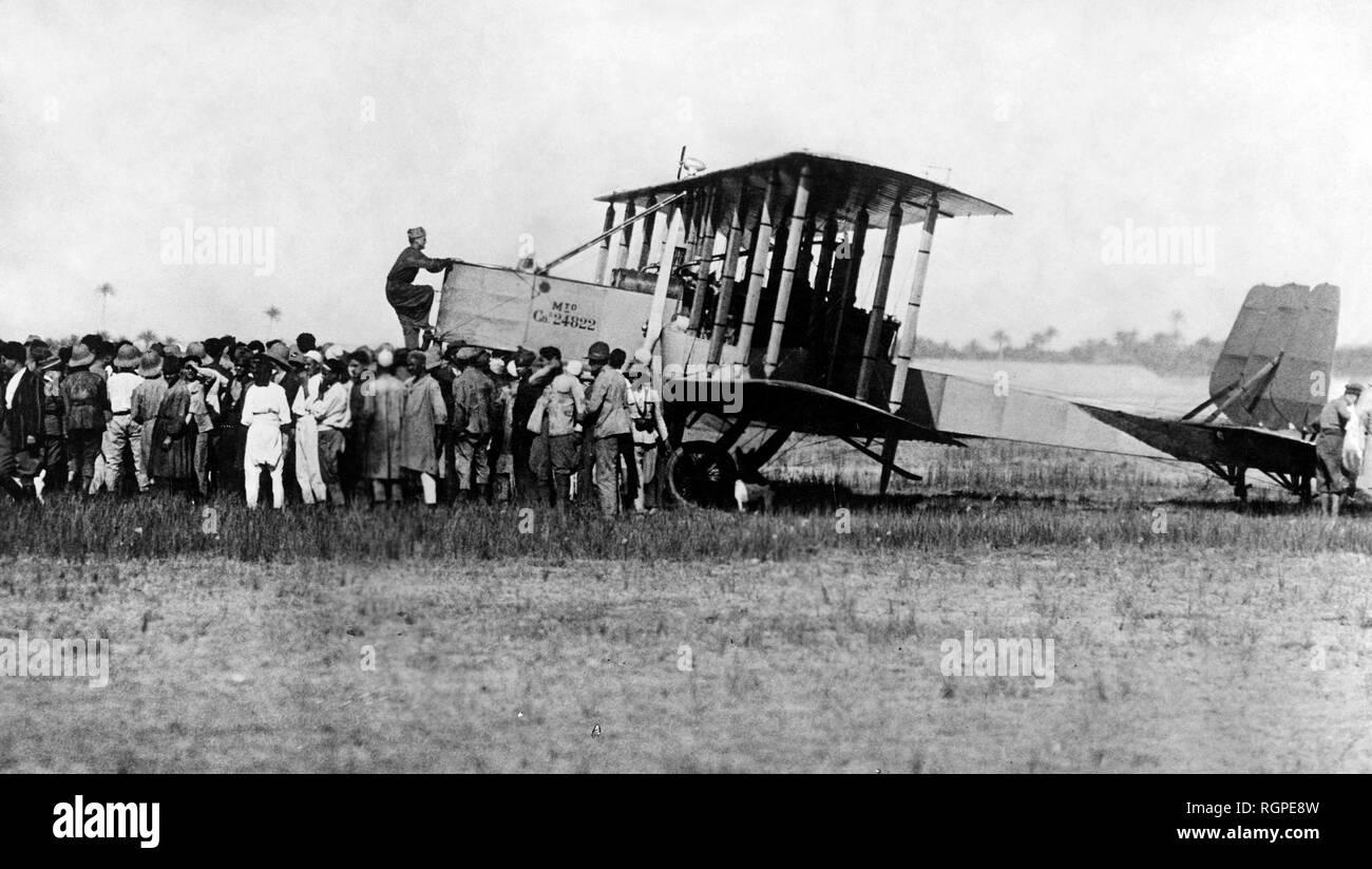África, la aeronáutica, el interés por la llanura, 1919 Foto de stock