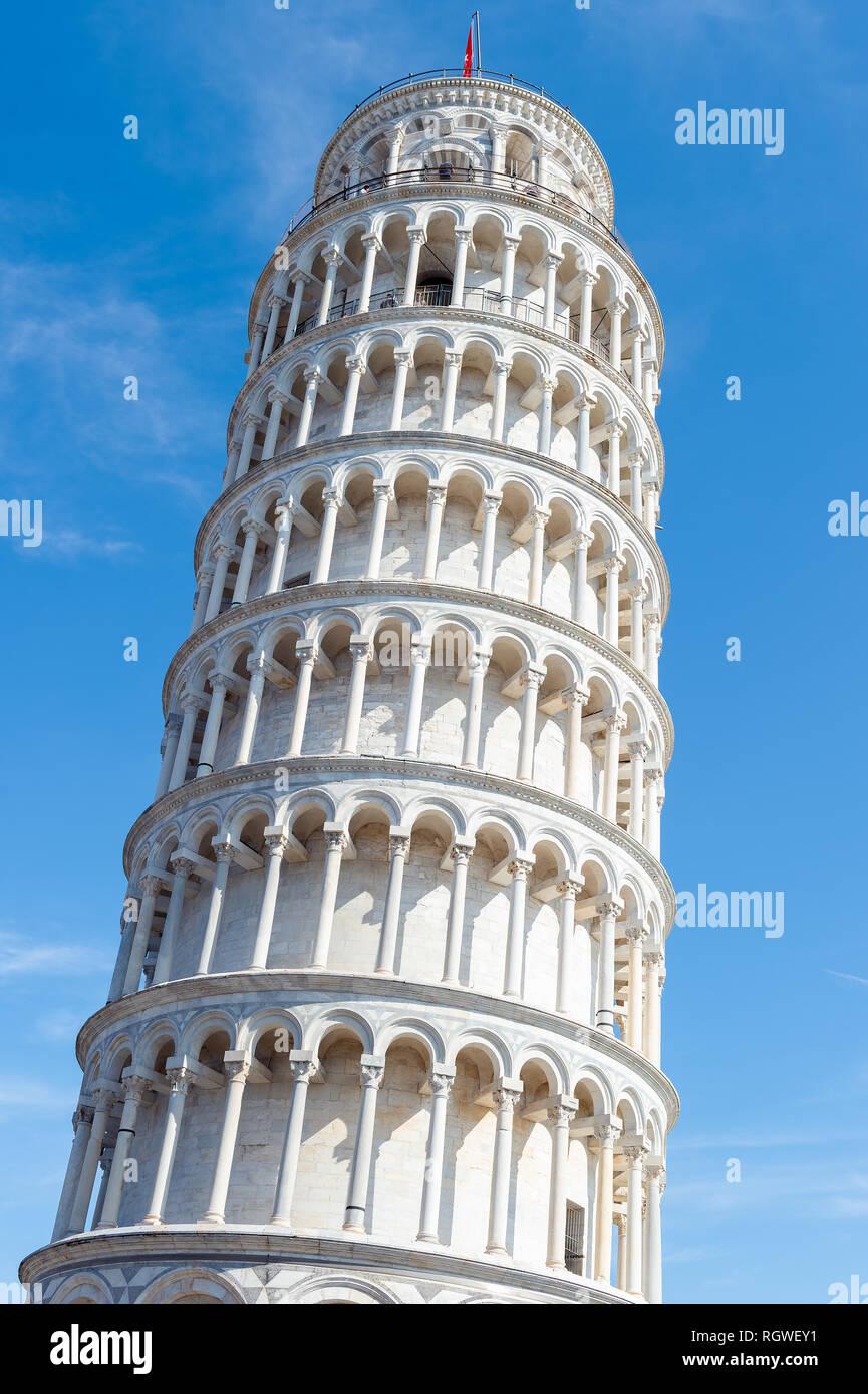 La Torre Inclinada de Pisa, Italia Foto de stock