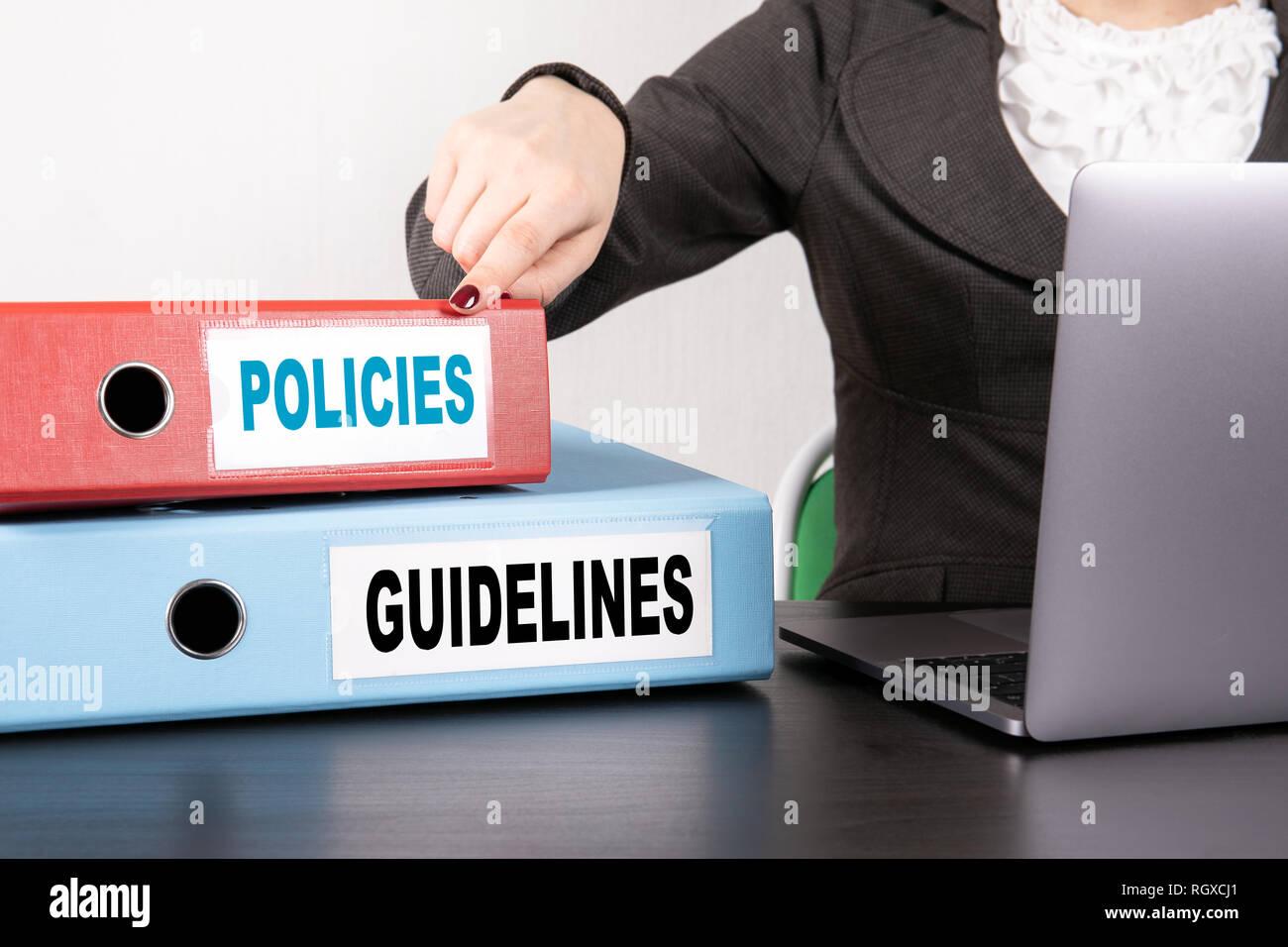 Políticas y directrices concepto Imagen De Stock