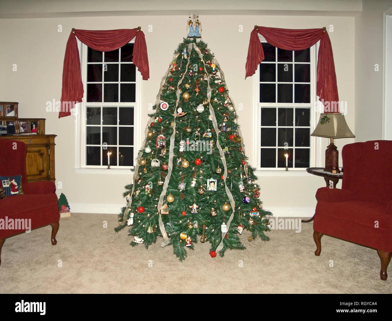 Fotos Casas Decoradas Navidad.Arbol De Navidad Decoradas Luces 2 Windows