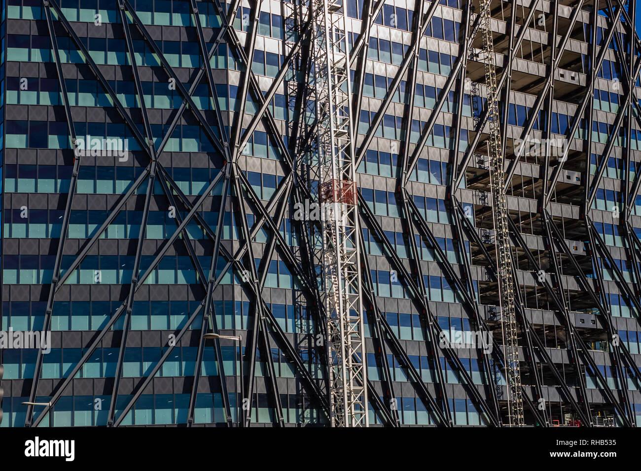 Londres, Reino Unido - 21 de octubre de 2018: La arquitectura moderna en Londres Foto de stock