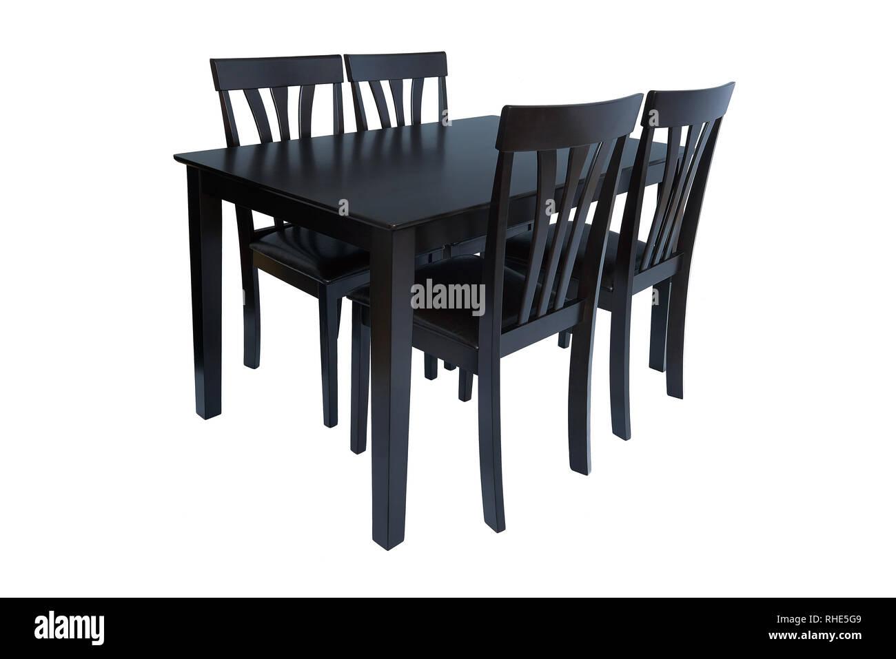Muebles de comedor Conjunto mesa y cuatro sillas. Cenas elegantes ...
