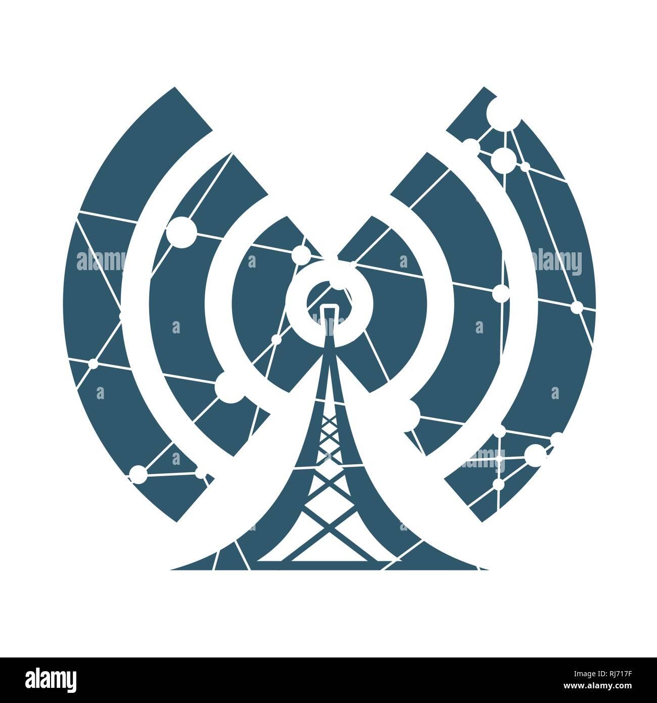Símbolo de red inalámbrica Wi Fi Imagen De Stock