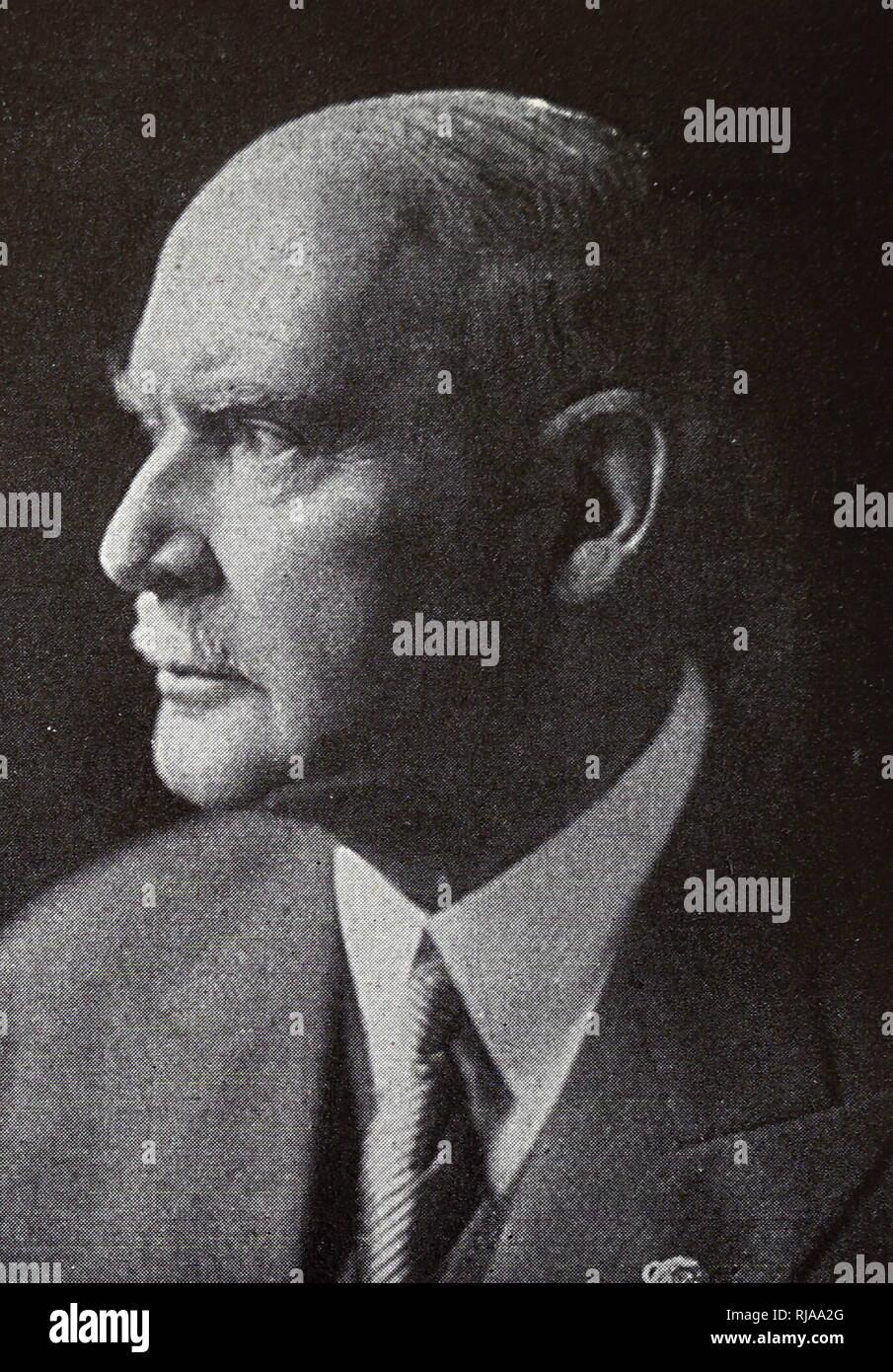 Fotografía del Dr. Theodor Lewald (1860 - 1947) fue un funcionario del Reich alemán y un ejecutivo del Comité Olímpico Internacional. Él era el presidente del comité organizador de los Juegos Olímpicos 1936 Juegos Olímpicos de Verano en Berlín. Del siglo XX. Foto de stock